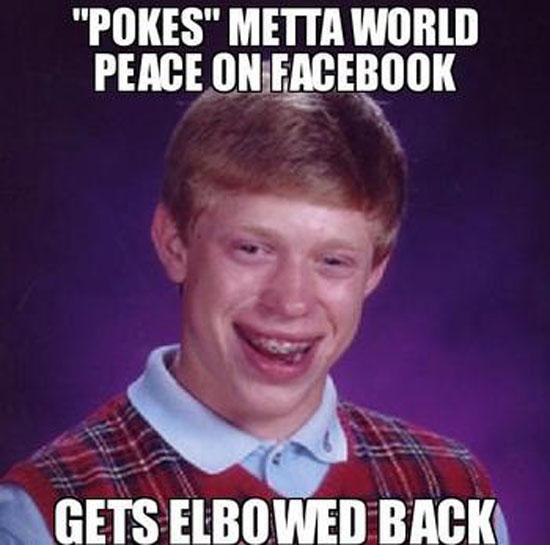 Gets Elbowed Back - Funny Memes