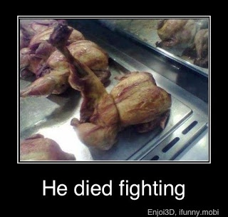 He Died Fighting - Funny Memes